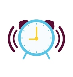 Clock with alarm sound vector