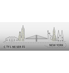 Popular new york city architecture vector