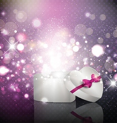 Valentines Day gift background vector image