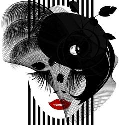 black dame vector image