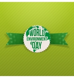World Environment Day festive Banner Template vector image