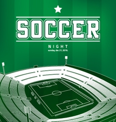 Soccer football poster vector