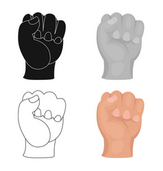 boxing fist icon in cartoon style isolated on vector image vector image
