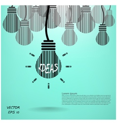 Creative light bulb vector