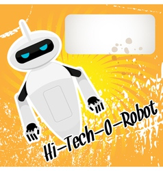 Hitech robot vector