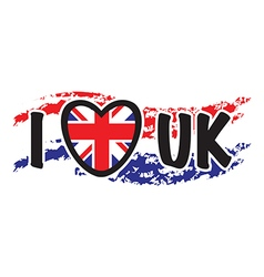I love uk vector