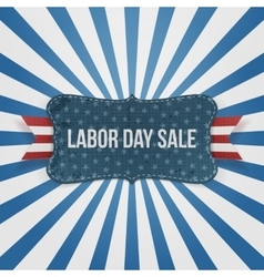 Labor day sale national badge vector