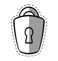 padlock lock security money shadow vector image
