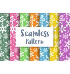 seamless christmas snowflakes vector image vector image