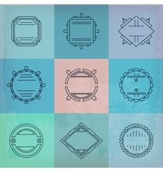 set of vignettes vector image vector image