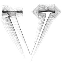 Sketch font Letter U vector image vector image