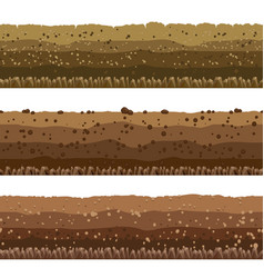 soil layers set vector image