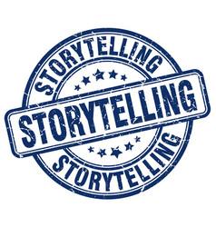 Storytelling blue grunge stamp vector