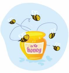 sweet honey vector image vector image