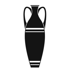 vase icon simple style vector image vector image