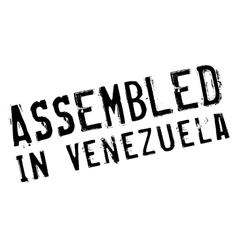 Assembled in venezuela rubber stamp vector