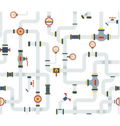 Seamless stock ware pipes system pattern vector