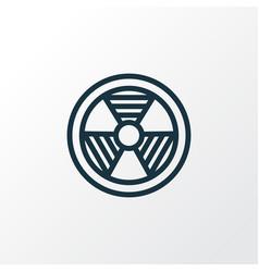 Bio hazard outline symbol premium quality vector