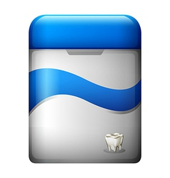 A dental floss vector