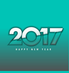 2017 new year lettering on blue background vector