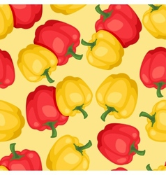 Seamless pattern with fresh ripe peppers vector