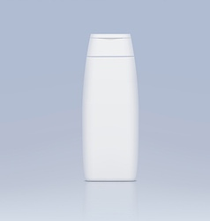 Plastic bottle for shampoo vector