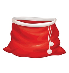 bag red santa vector image