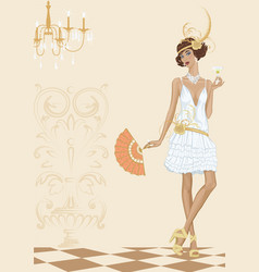 Woman in style of the twenties vector