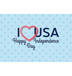 4th of july background Fourth of July felicitation vector image