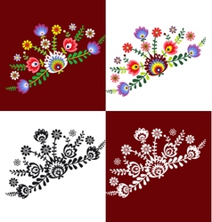 Folk pattern flowers-g vector