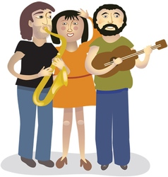 The musicians vector