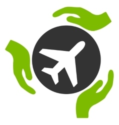 Aviation care icon vector