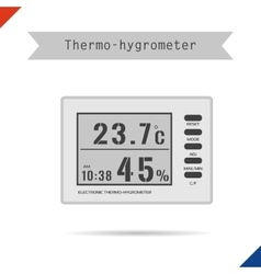 Digital thermometer hygrometer icon vector