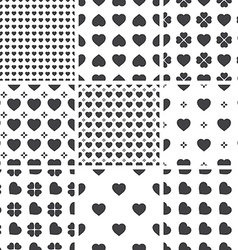 Set of monochrome geometric seamless universal vector