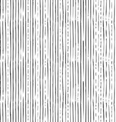 Seamless pattern of vertical thin brush strokes vector