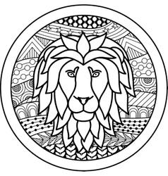 Zodiac sign leo vector