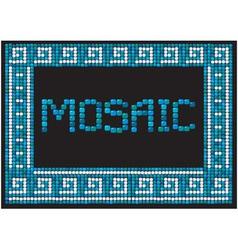 mosaic frame - landscape border vector image