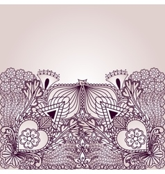 Background with elements of tribal style designs vector image