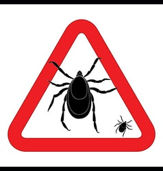 Mite warning sign of tick warning sign bud warning vector