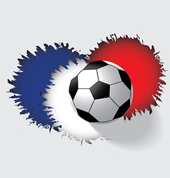 Soccer ball isolated on gray background vector