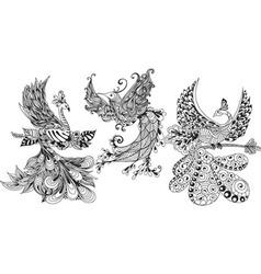 Bird phoenix three vector