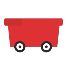 Red wagon icon vector