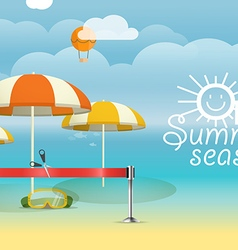 Summer seaside vacation vacation design template vector