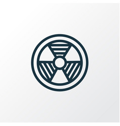 Bio hazard outline symbol premium quality vector