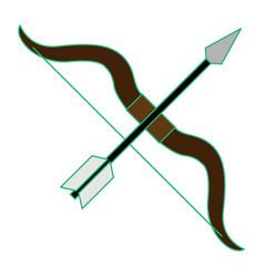 Bow and arrow as sagittarius vector