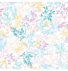 Colorful pastel branches seamless pattern vector image