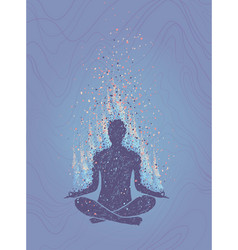 concept of meditation enlightenment human vector image