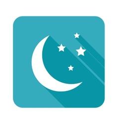 Crescent moon icon vector