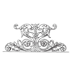 Dolphin frieze is a part of a larger frieze found vector