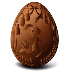Easter chocolate egg vector image